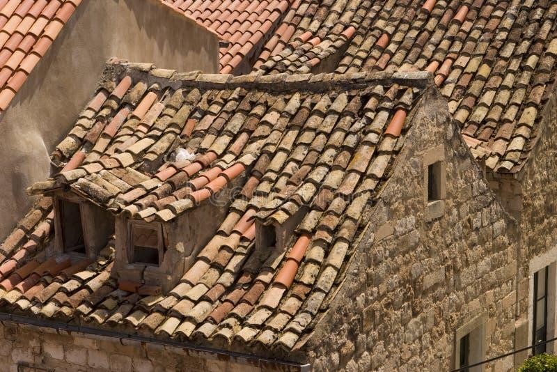 крыши dubrovnik стоковая фотография rf