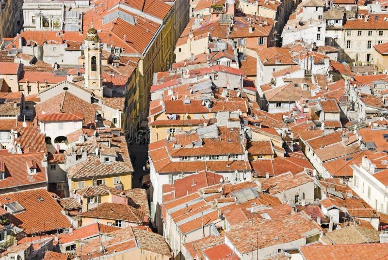 крыши nizza стоковая фотография rf