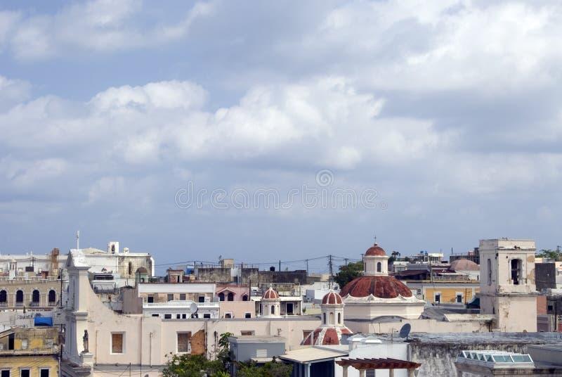 крыши san juan Пуерто Рико стоковые фото
