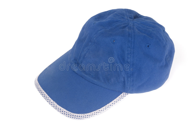 крышка бейсбола голубая стоковое фото rf