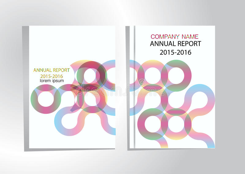 Крышка годового отчета, предпосылка дизайна отчете о крышки красочная иллюстрация вектора