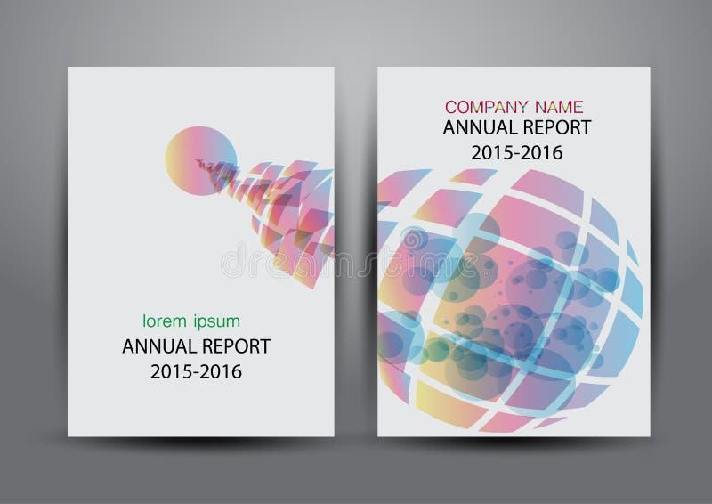 Крышка годового отчета, предпосылка дизайна отчете о крышки красочная иллюстрация штока