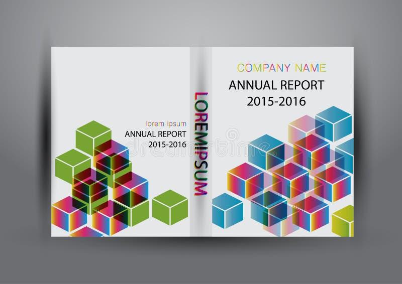 Крышка годового отчета, предпосылка дизайна отчете о крышки красочная бесплатная иллюстрация