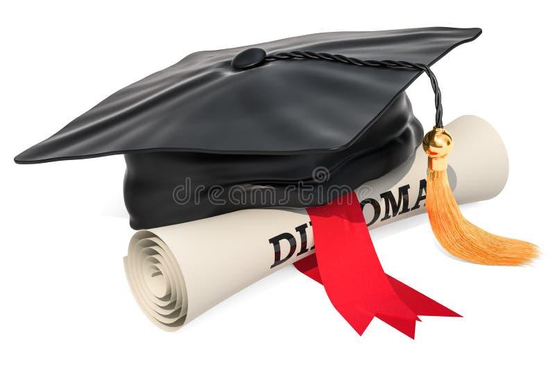 Крышка градации и перечень диплома, перевод 3D бесплатная иллюстрация