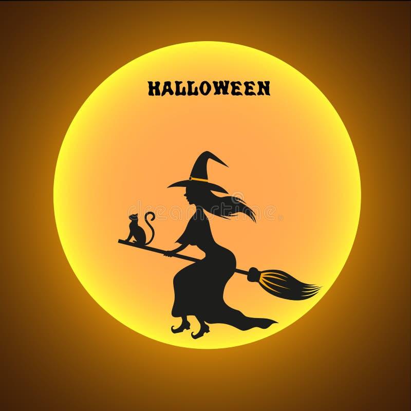 Крышка дизайна хеллоуина иллюстрация штока