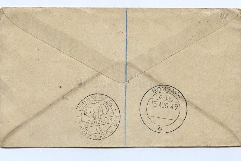 крышка дня 1-ой окончательной серии первая показывая археологический & исторический предмет 15-ое августа 1949 стоковые фото