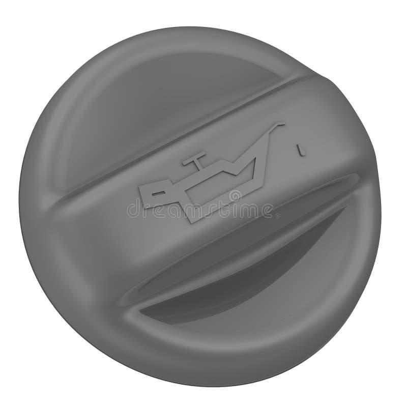 Крышка заливной горловины машинного масла иллюстрация штока