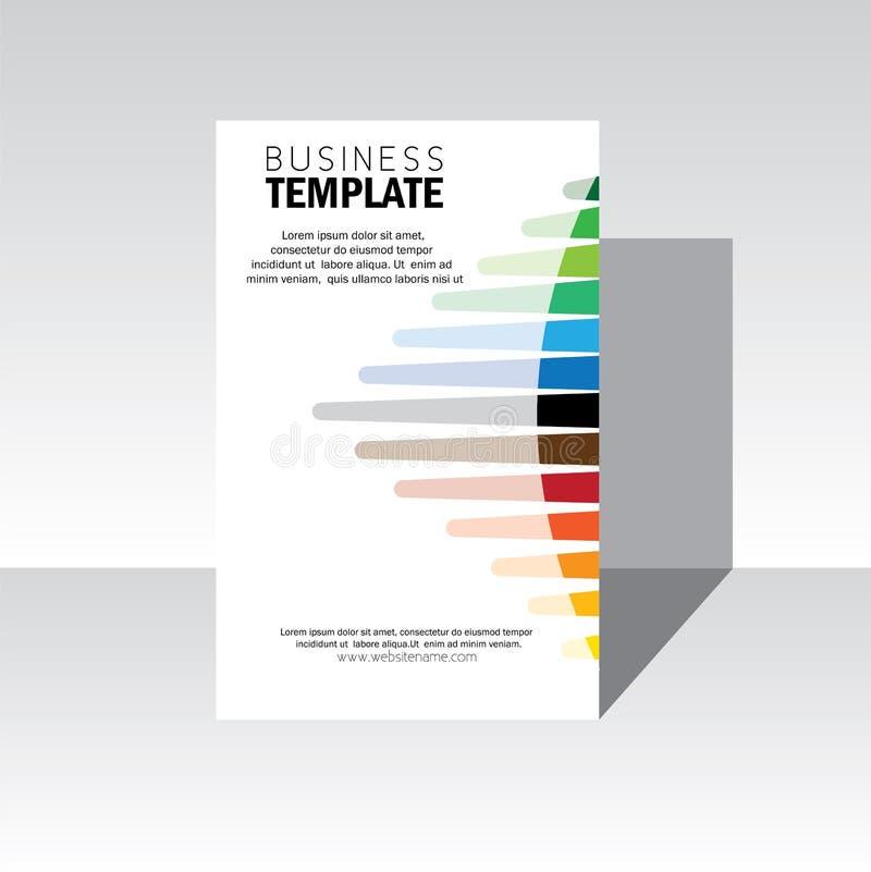 Крышка дизайна брошюры дела - шаблон вектора иллюстрация штока
