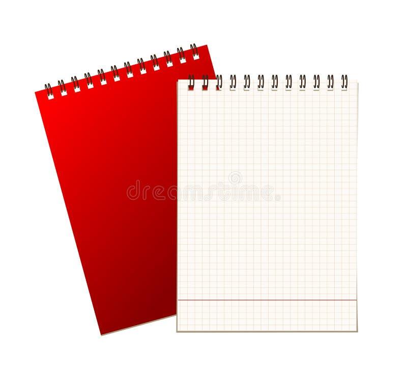 Крышка и страница тетради для вашей конструкции иллюстрация вектора