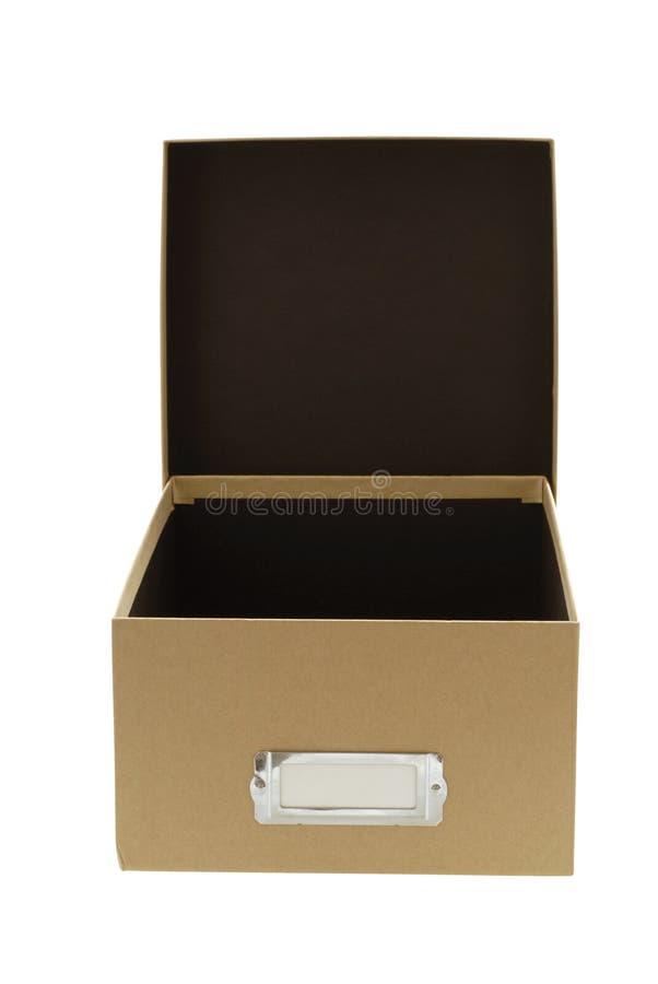 крышка коробки коричневая пустая стоковые изображения rf
