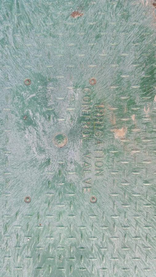 Крышка клапана полива стоковая фотография rf
