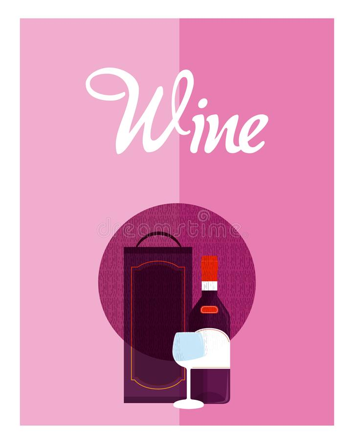 Крышка меню вина бесплатная иллюстрация