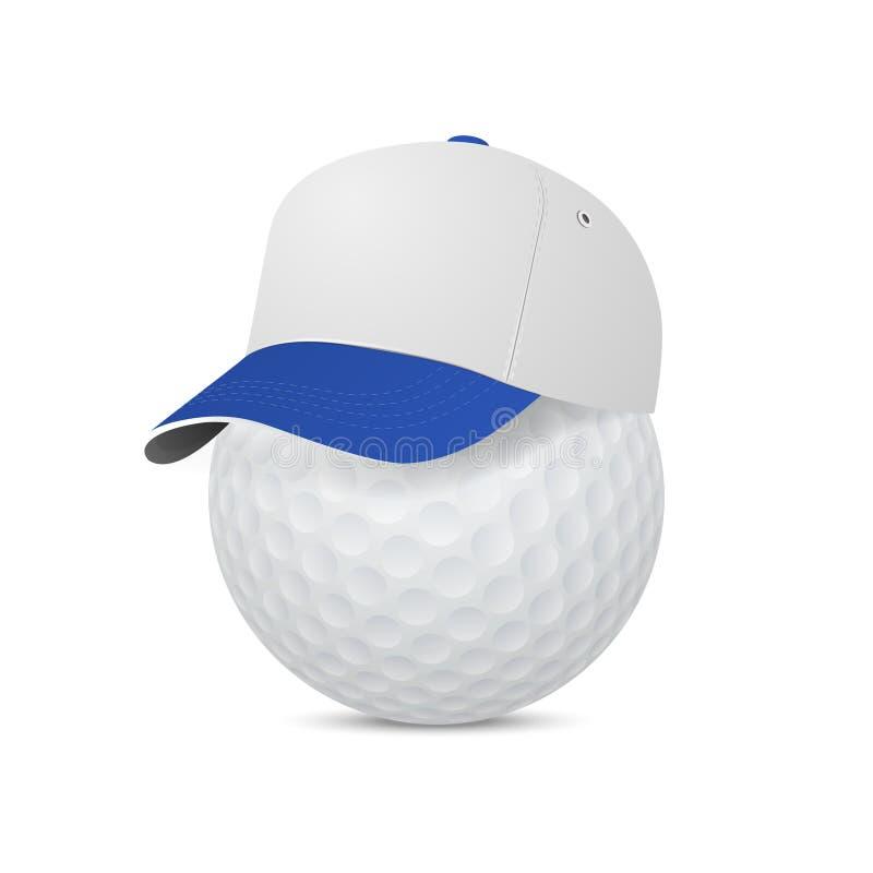 Крышка на шаре для игры в гольф Иллюстрация вектора eps10 бесплатная иллюстрация