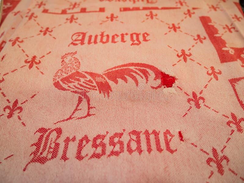 Крышка таблицы известного трактира Bressane resturant стоковая фотография