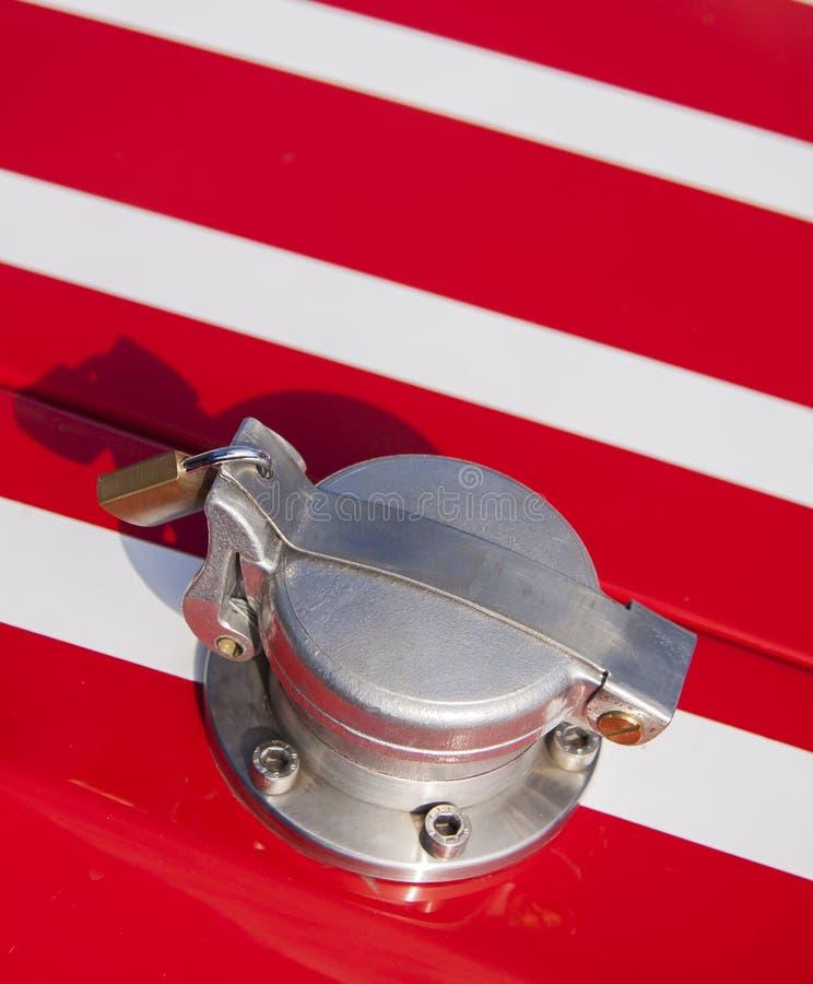Крышка топлива гонок стоковое изображение