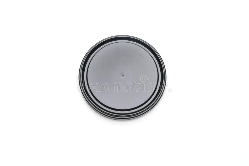 крышка упаковки на белизне стоковое изображение rf