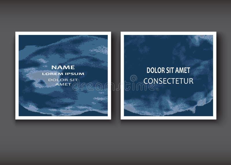 Крышки голубой формы взрыва акварели художнические конструируют комплект deco иллюстрация штока