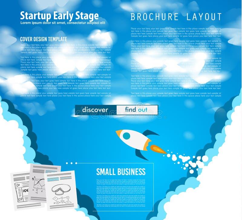 Крышки Startup Веб-страницы посадки или корпоративного дизайна бесплатная иллюстрация