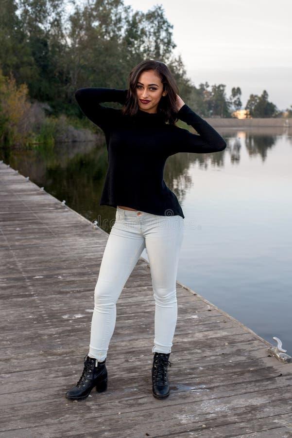 Крышк-девушка стоковое фото