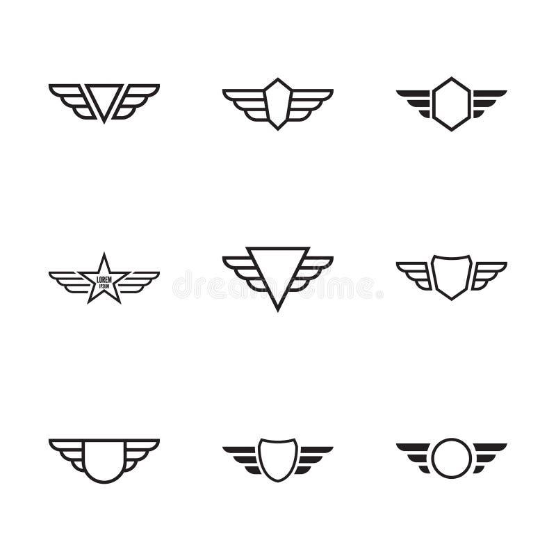 крыла вектора иллюстрации значка иллюстрация штока