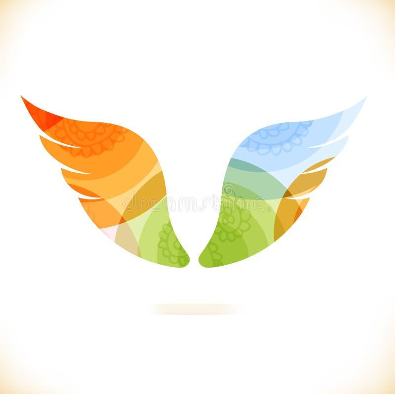 Крыла вектора multicolor иллюстрация штока