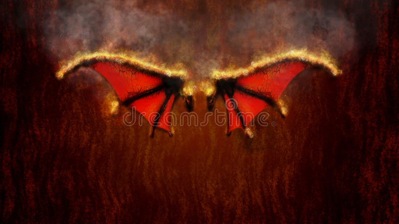 Крыла иллюстрации огня бесплатная иллюстрация