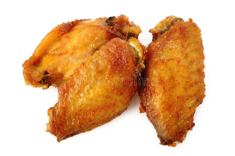 крыла цыпленка пряные стоковое изображение