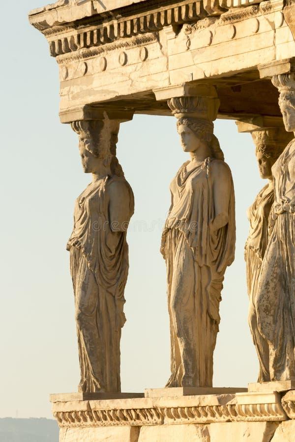 Крылечко Caryatides стоковые изображения rf