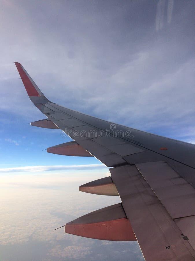 Крыло Airplaine стоковое изображение