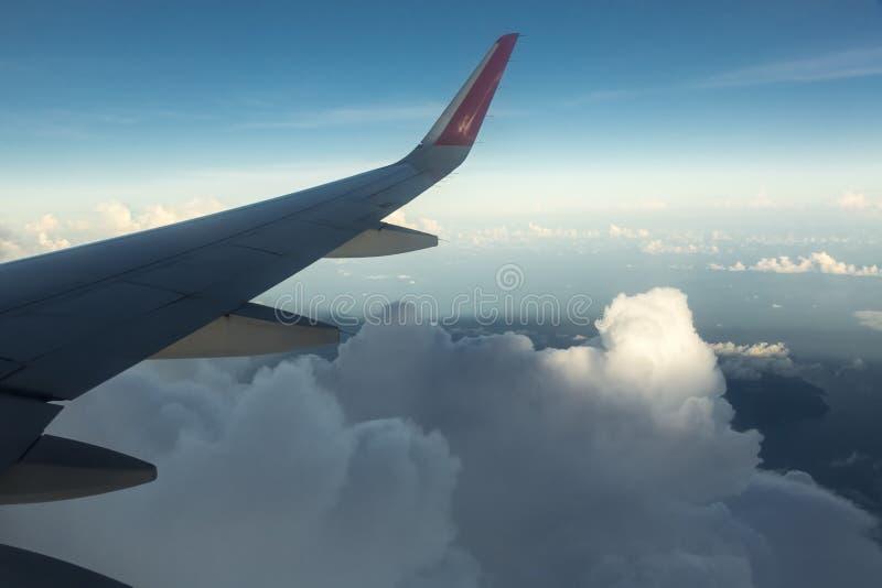 Крыло Airplaine стоковое изображение rf