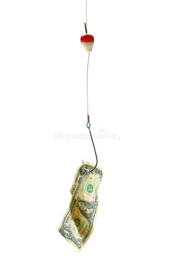 крюк доллара счета схематический стоковые изображения rf