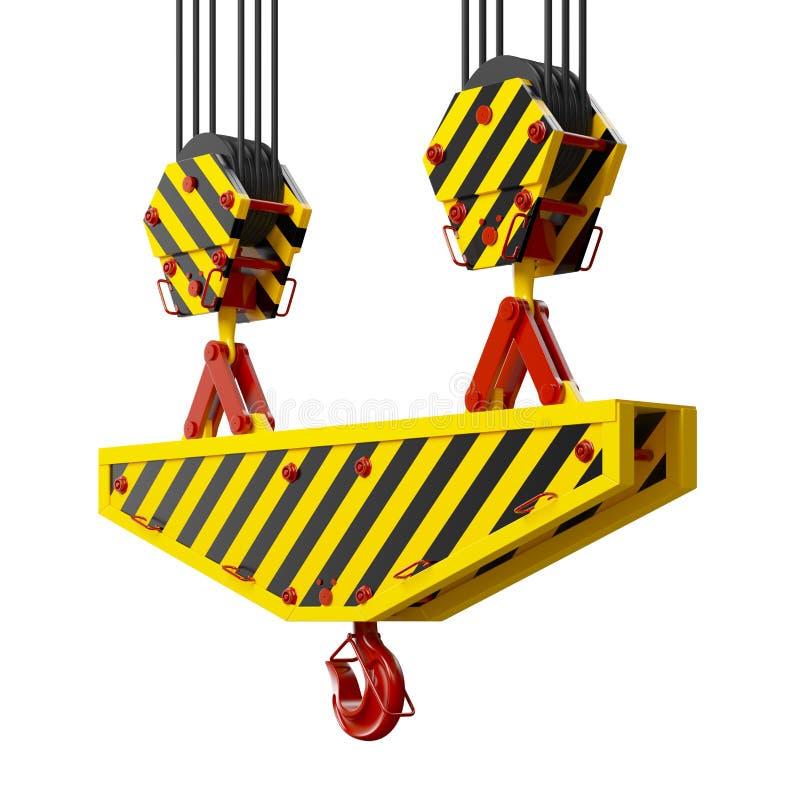 Крюк крана конструкции иллюстрация вектора