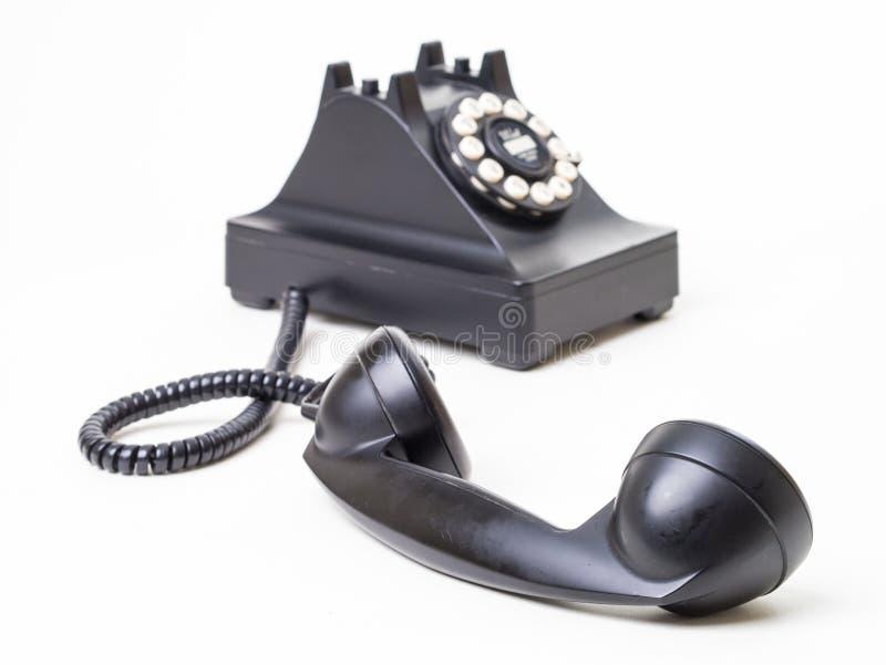 крюк с ретро телефона стоковое изображение