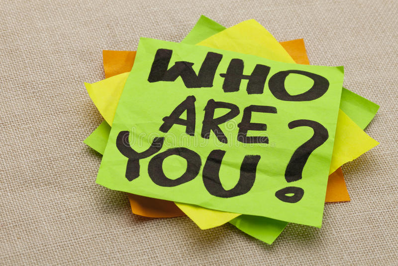 Кто вы вопрос стоковая фотография