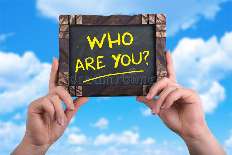 Кто вы стоковые фотографии rf