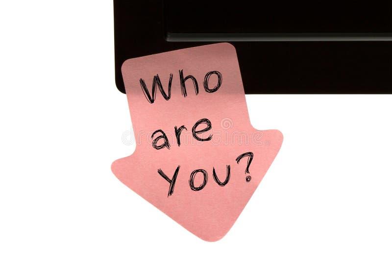 Кто вы стоковые изображения