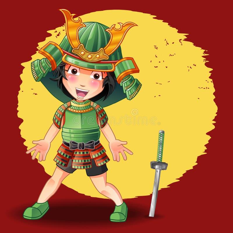 Кто-то в панцыре и шпаге самурая бесплатная иллюстрация