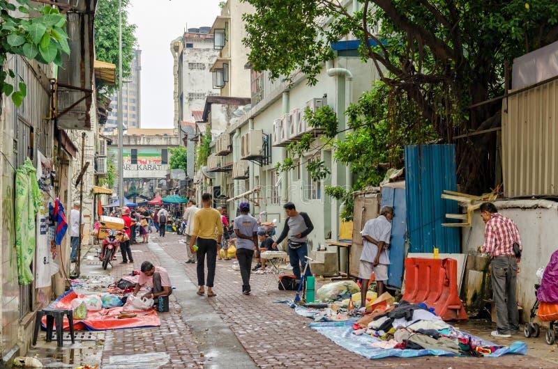 Куала-Лумпур, Малайзия - 5,2019 -го август: Карат Pasar блошиный рынок который расположен в Чайна-тауне, Куалае-Лумпур стоковые изображения rf