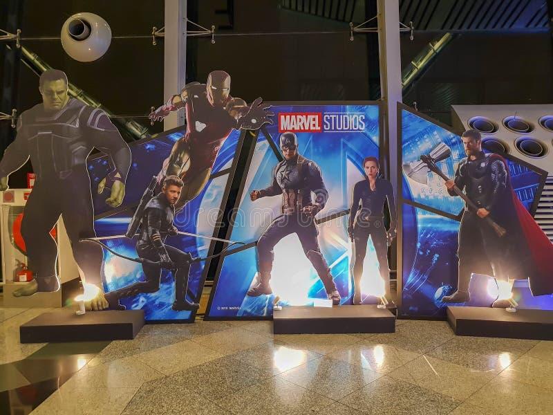 КУАЛА-ЛУМПУР, МАЛАЙЗИЯ - 6 МАЯ 2019:Avengers Endgame: ролевые турне по Куала-Лумпур стоковое изображение rf