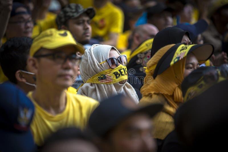 Куала-Лумпур, Wilayah Persekutuan Малайзия - 19-ое ноября 2016: Ралли Bersih 5 был мирным демократическим протестом в Малайзии стоковые фото