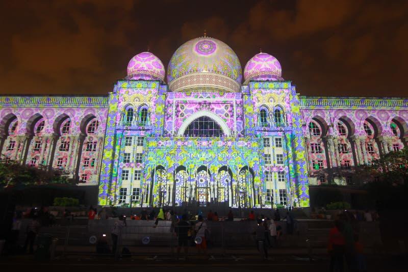 Куала-Лумпур: Свет и движение Путраджайя (LAMPU) на Путраджайя с 12-ого декабря до 14-ого декабря 2014 привлекли тысячу из людей стоковое фото rf