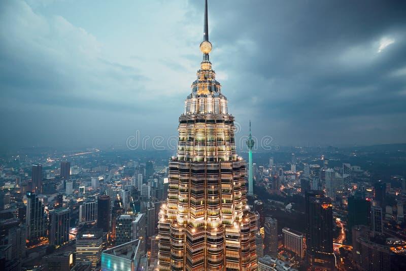 Куала Лумпур petronas возвышается близнец стоковое изображение rf