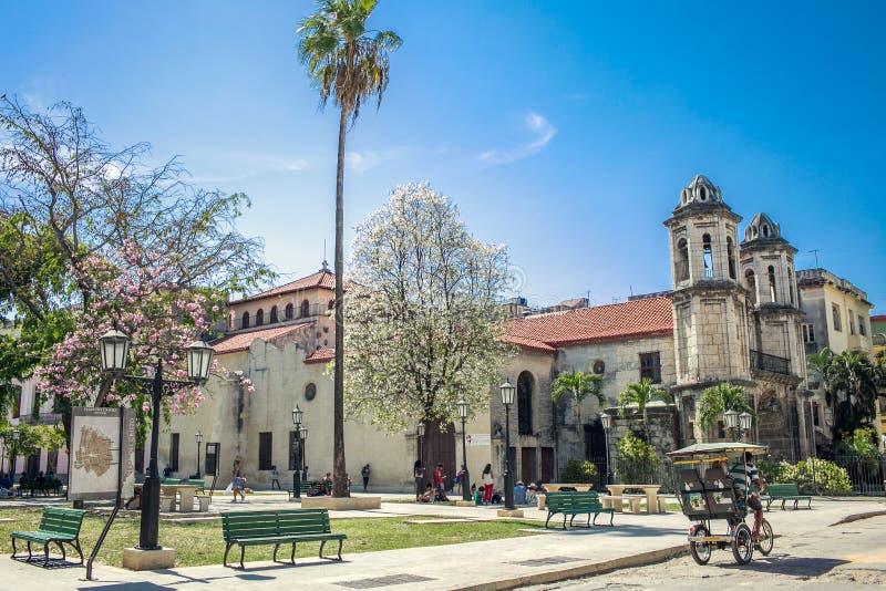 Куба, Гавана - Площадь del Cristo стоковая фотография rf