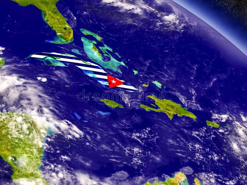 Download Куба с врезанным флагом на земле Иллюстрация штока - иллюстрации насчитывающей зона, наука: 81810394