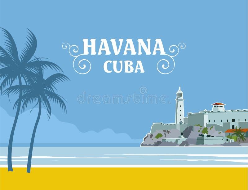 Куба havana бесплатная иллюстрация