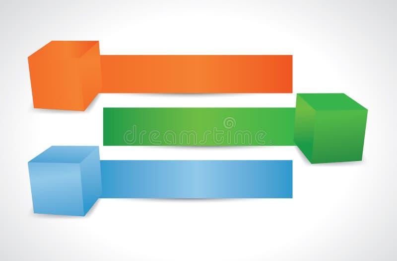 Кубики варианта стоковые фотографии rf