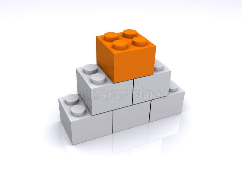 кубики здания стоковые изображения rf