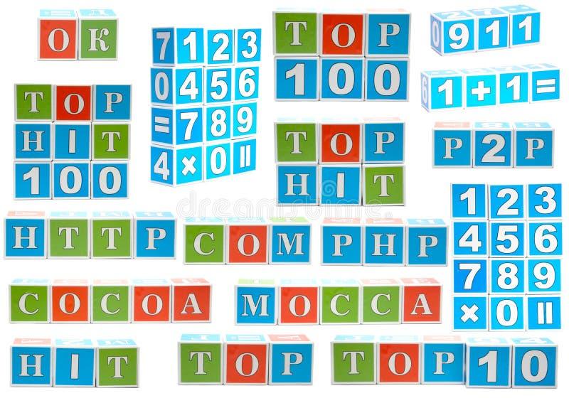 кубики собрания стоковое изображение rf