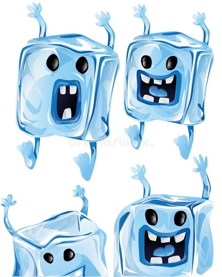 Кубики льда шаржа иллюстрация штока