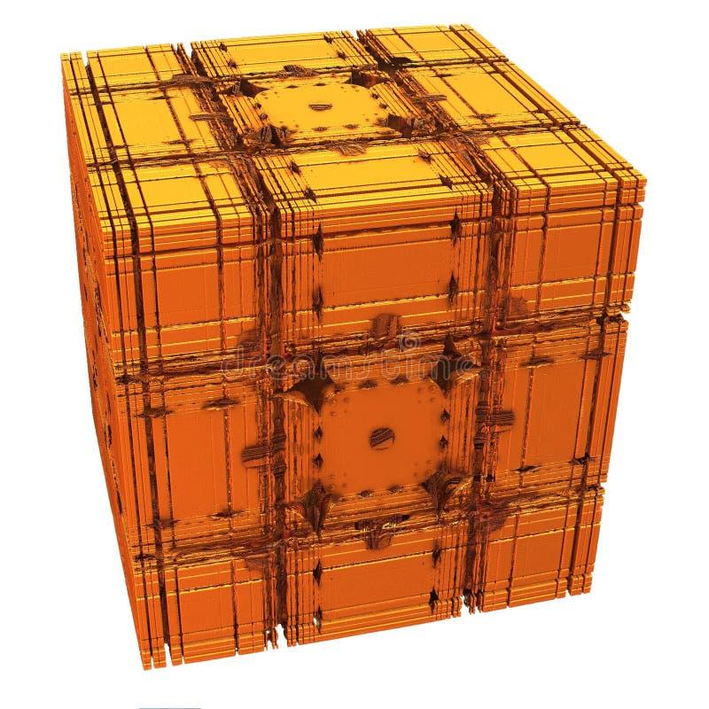 кубик золотистый бесплатная иллюстрация